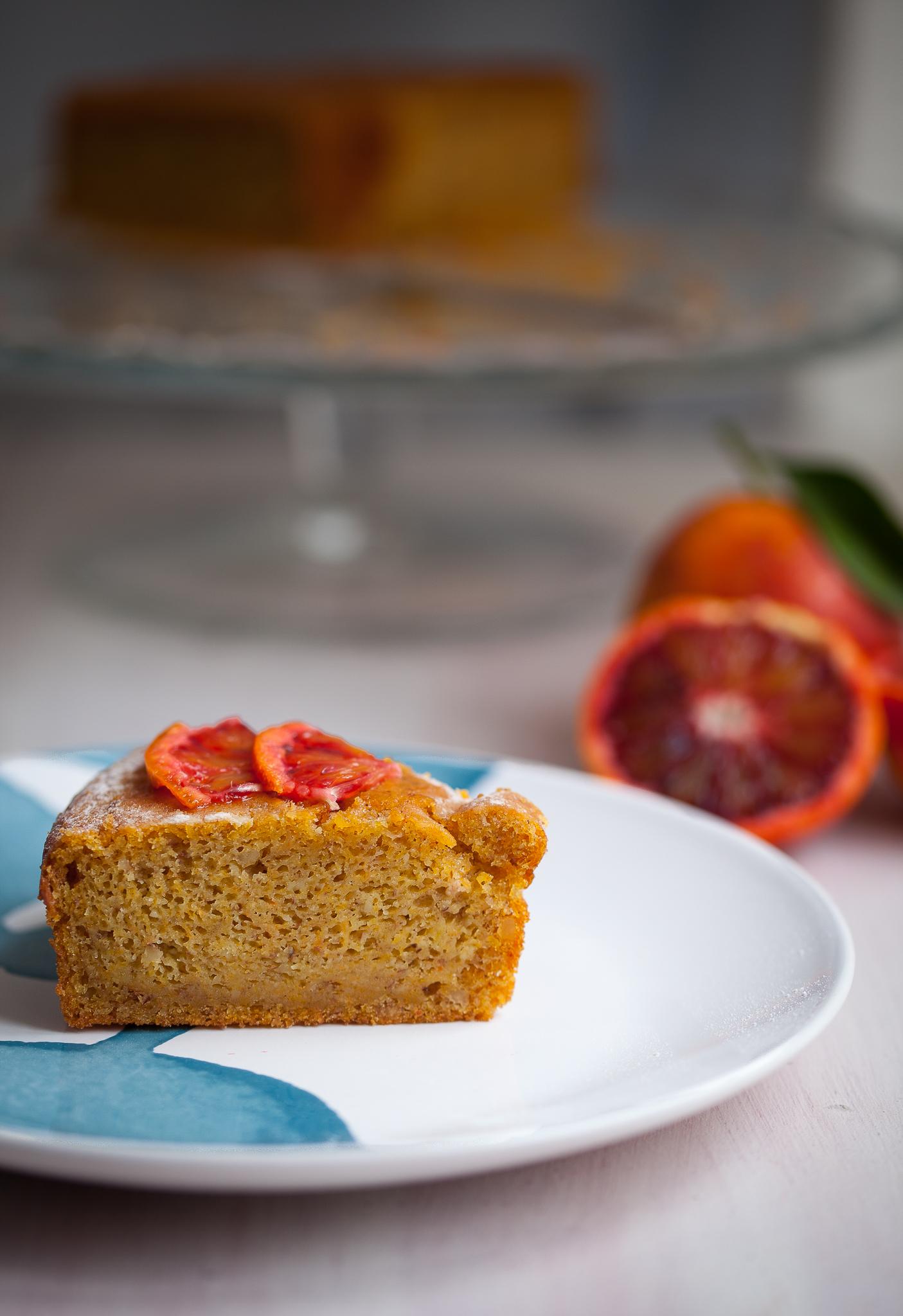 Torta zucca e mandorle al profumo di arance