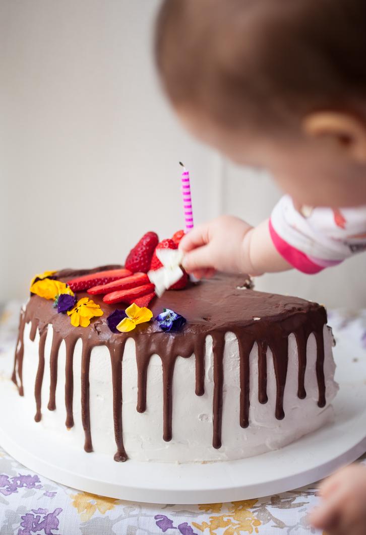 la torta di compleanno di Sara