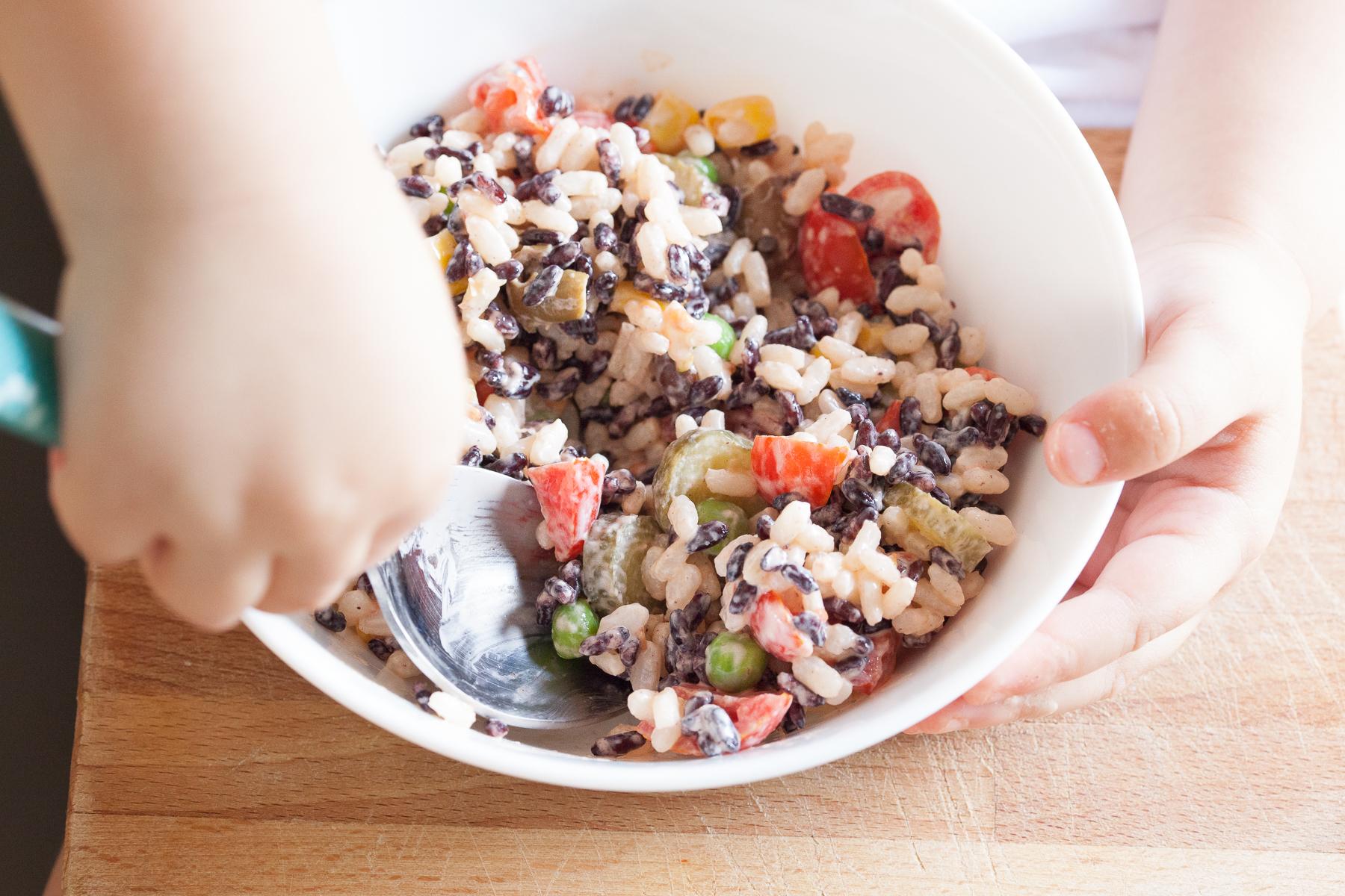 insalata di riso orizzontale