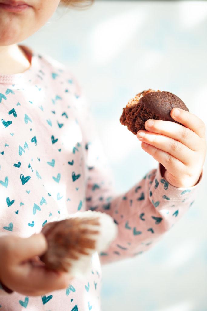 muffin cacao e pere Sara morso