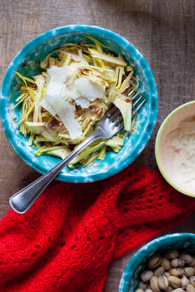 insalata di carciofi parmigiano