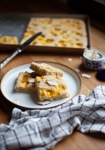 torta bassa cocco e mango